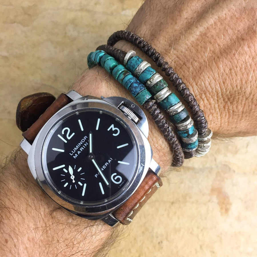 Bracelets Men's Powerful Expression Wrap Bracelet JB731