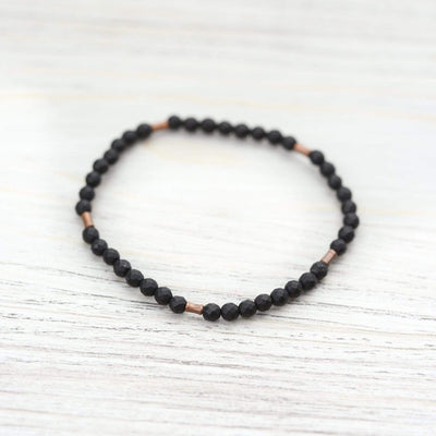 Bracelets Onyx and Copper Bracelet JB790