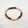 Bracelets Peach Moonstone and Rosewood Inspiration Bracelet JB796