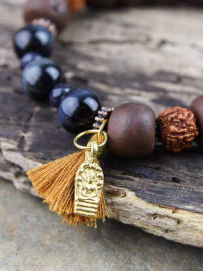 Bracelets Revitalizing Bodhi Seed and Thai Amulet Wrist Mala JB734