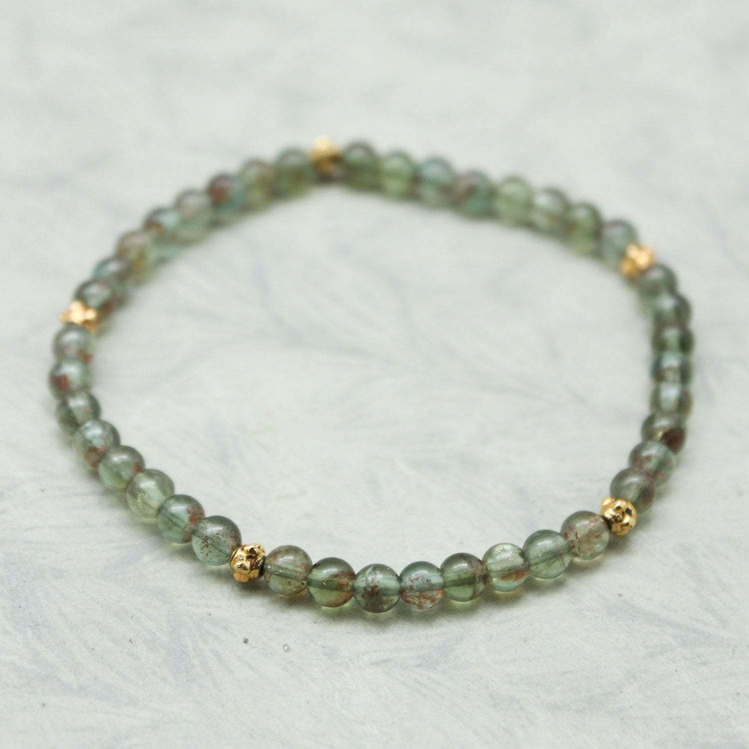 Bracelets Small Green Apatite Stackable Bracelet JB805.SM