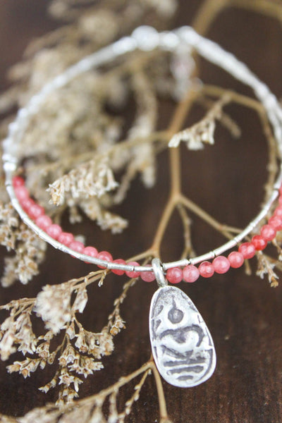 Bracelets Thai Amulet Charm Bracelet with Rose Quartz JB683