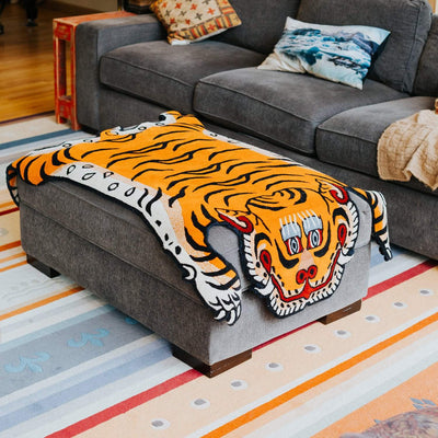 Carpets Default Large Tibetan Tiger Rug cr109