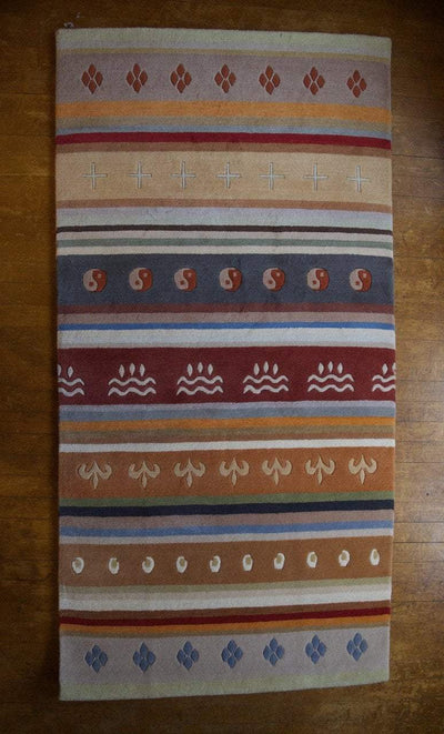 Carpets Default Tibetan Wool Chuba Design Carpet Carpet27