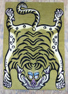 Prajwol /NepaCrafts Carpets Default Traditional Tiger Tibetan Meditation Carpet