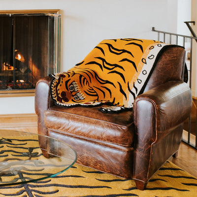 Carpets Large Tibetan Tiger Rug Sunset Orange CR112