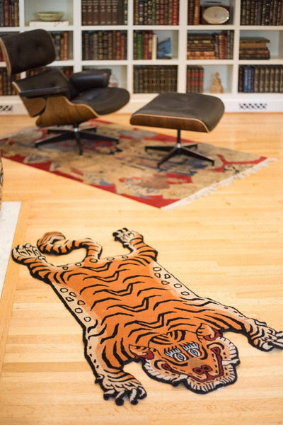 Carpets Medium Tibetan Tiger Rug Sunset Orange CR052