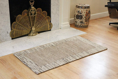 Carpets Striped Neutral Tibetan Carpet CR072