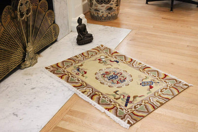 Carpets Traditional Tibetan Style Mandala Rug CR071
