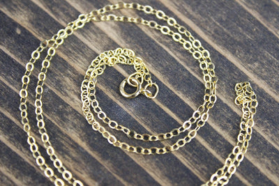 chains 18 Inch Gold Filled Chain jc023