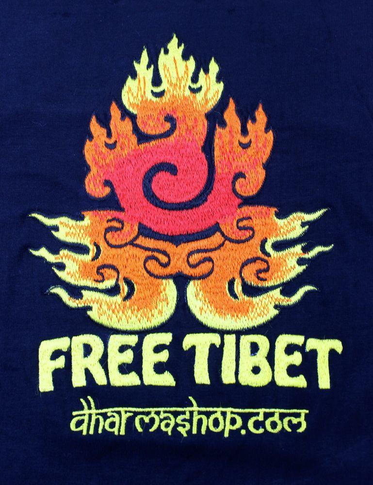 Clothing Kids Small (age2-4) Kids Hand Embroidered Free Tibet T-Shirt ts011-28sm