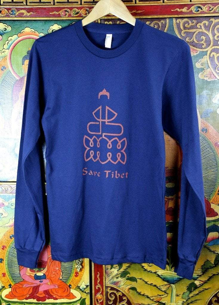 Clothing Small Save Tibet Long Sleeve Made in the USA T Shirt ts019small