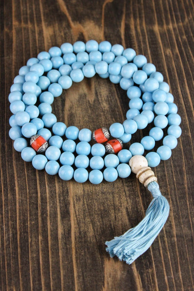 Custom Mala Beads Custom-Made Turquoise Mala AA013