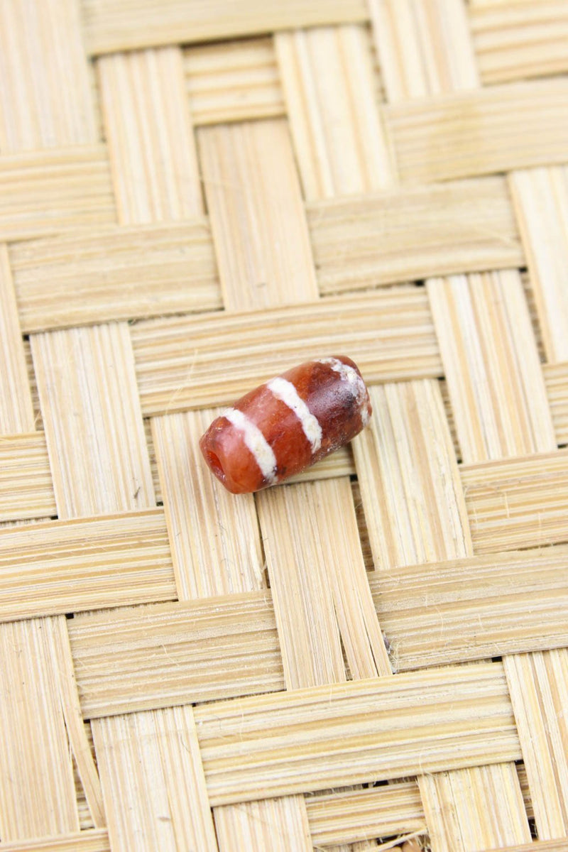 Dzi Beads Default Gorgeous 3 Line Etched Carnelian Bead AB002