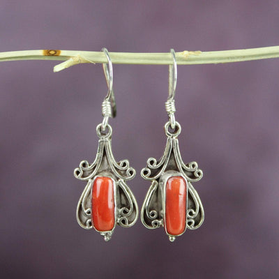 Earrings Antique Coral Embellishment Earrings JE487