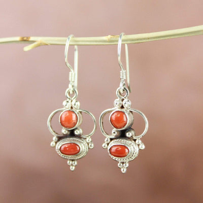 Earrings Antique Coral Passion Earrings JE490