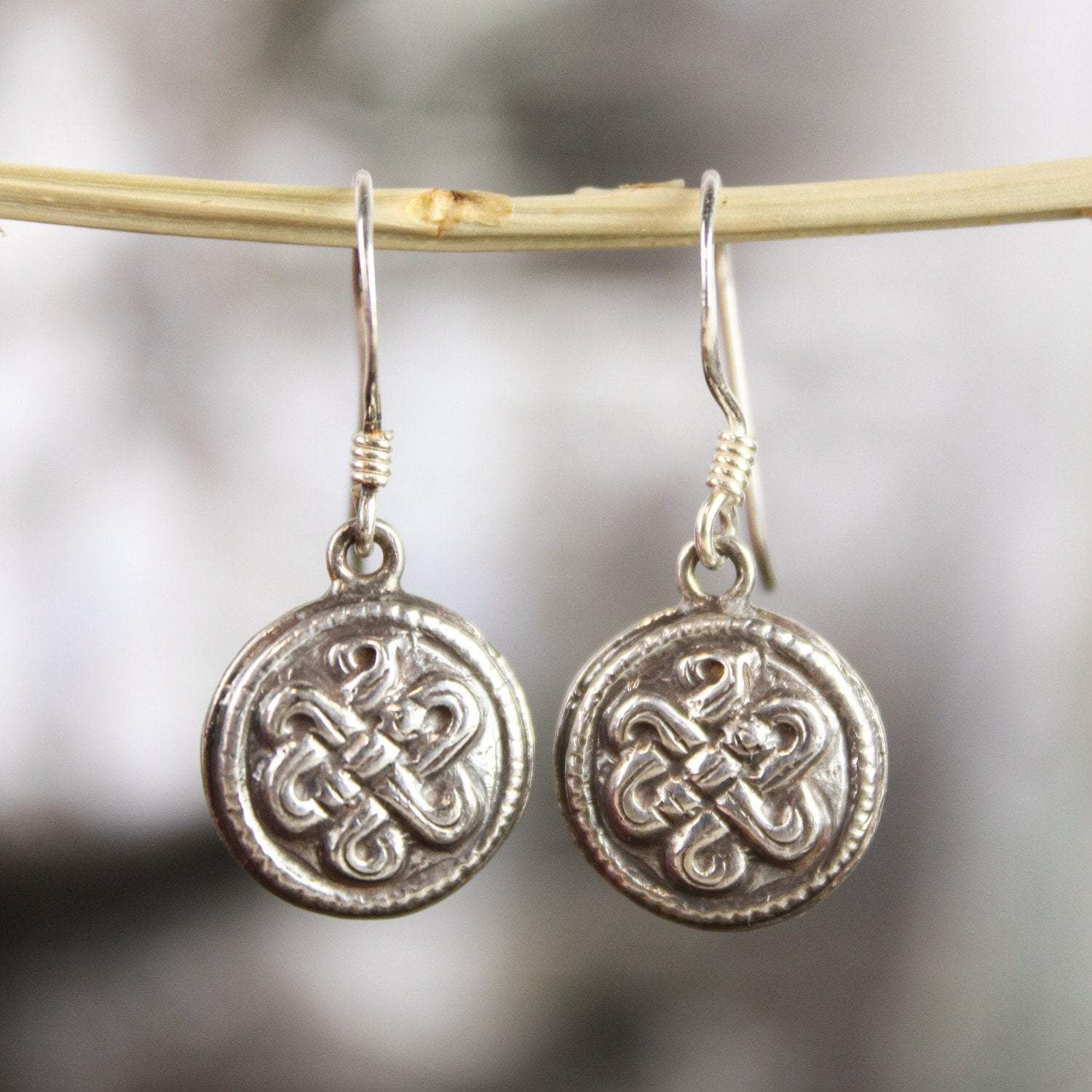 Earrings Auspicious Eternal Knot Earrings JE488