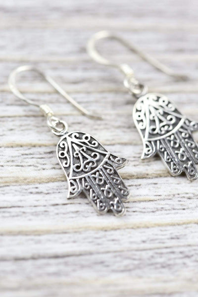 Earrings Auspicious Hamsa Earrings JE543