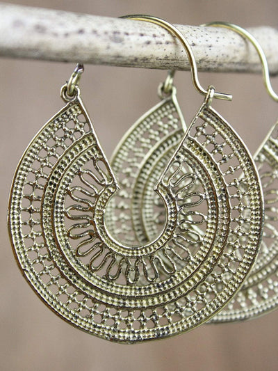 Earrings Brass Mandala Essence Earrings JE473