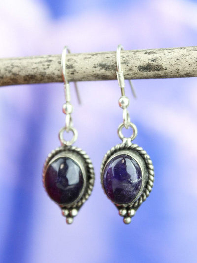 Earrings Default Amethyst Drop Earrings je108