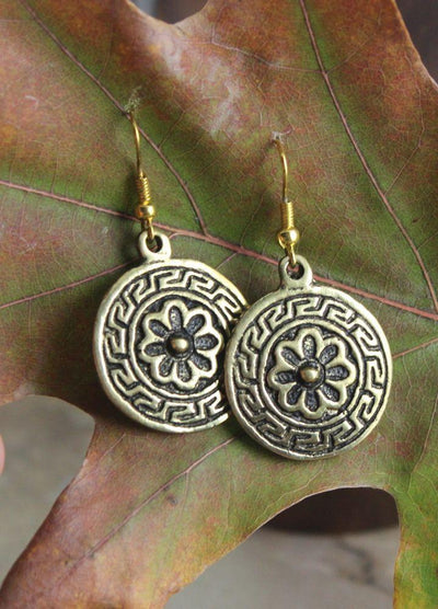 Earrings Default Brass Mandala-style Earrings je092