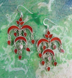 Earrings Default Coral Chandelier Earrings je014