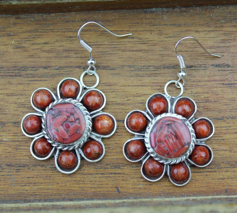 Earrings Default Coral Flower Earrings je132