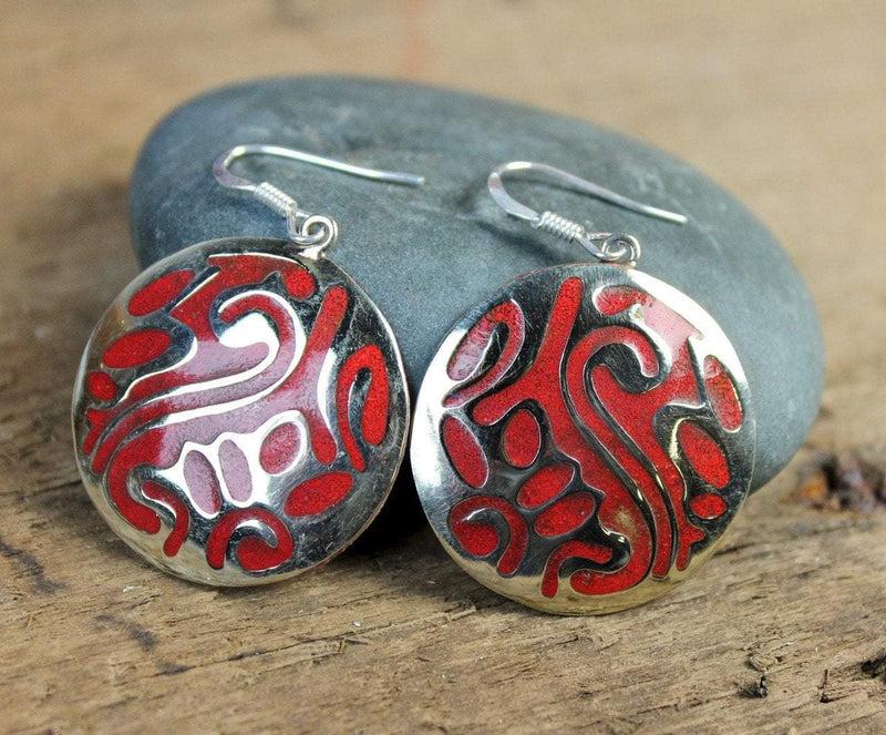Earrings Default Coral Inlaid Earrings je307