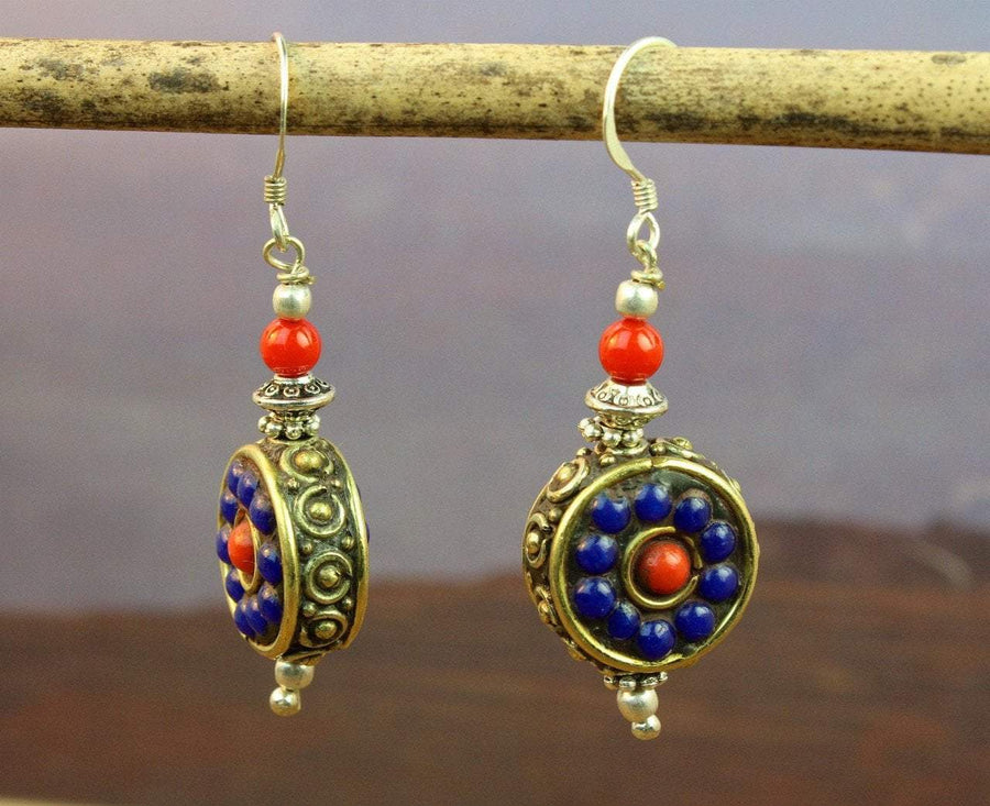Earrings Default Dharma Perfection Lapis Earrings je456