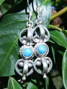 Earrings Default Dorje with Turquoise Stone Earrings je028
