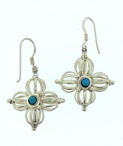 Earrings Default Double Dorje earrings Silver je006