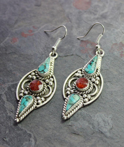 Earrings Default Karma Tibetan Earrings je125