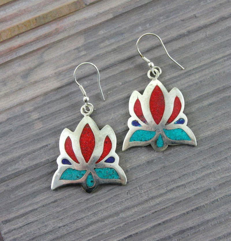 Earrings Default Lotus Flower Earrings je112