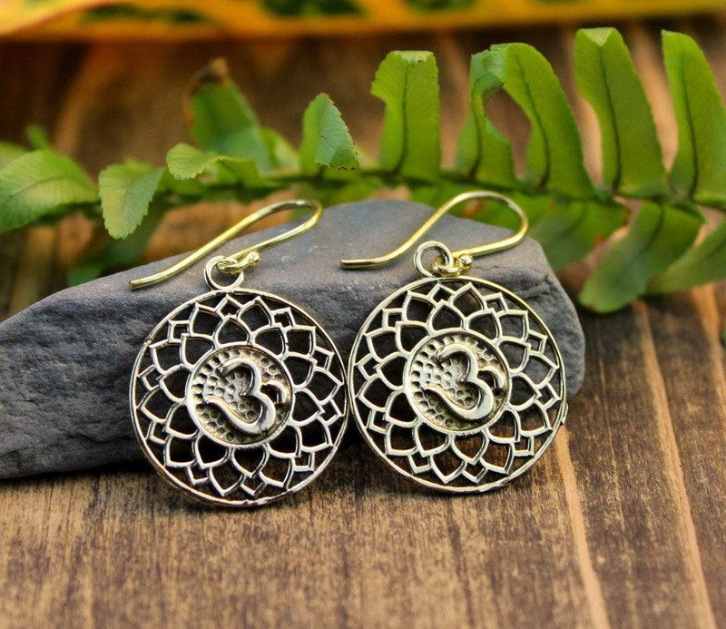 Earrings Default Lotus Leaf Om Earrings je337