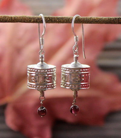 Earrings Default Prayer Wheel Earrings je004