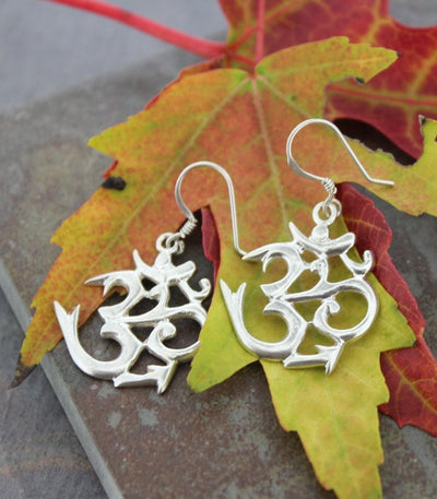 Earrings Default Sanskrit Om Earrings je008