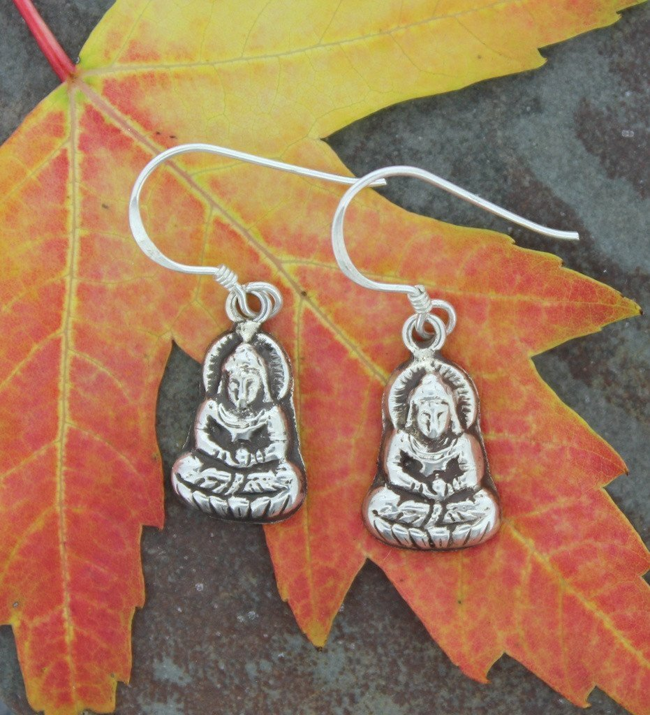 Earrings Default Small Buddha Earrings je017