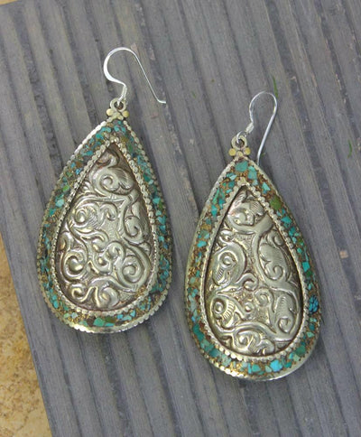 Earrings Default Sterling Silver and Turquoise Earrings je144