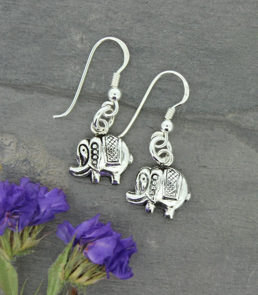 Earrings Default Sterling Silver Elephant Earrings je098