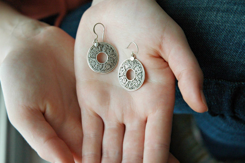 Earrings Default Sterling Silver Loop Earrings JE140