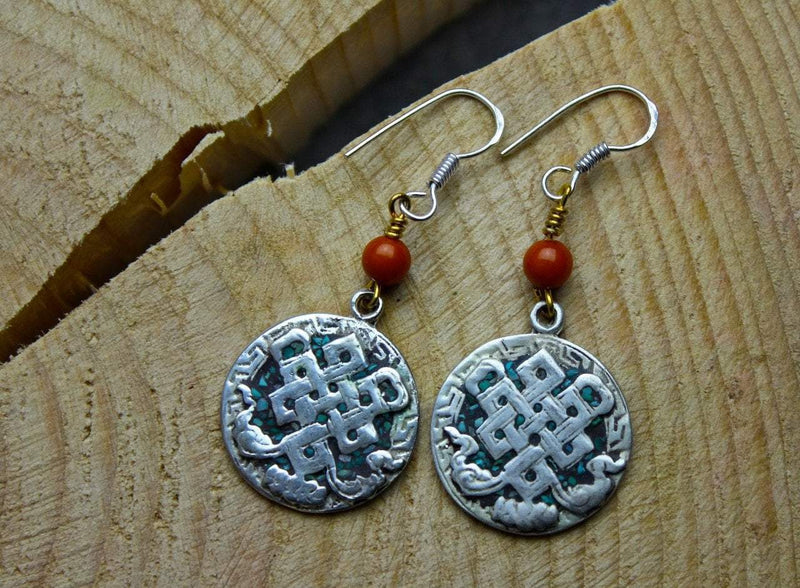 Earrings Default Tibetan Eternal Knot Earrings je420