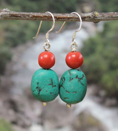Earrings Default Traditional Tibetan Earrings je085