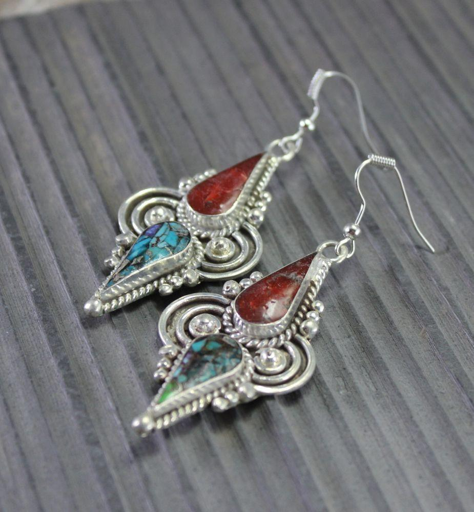 Earrings Default Traditions of Tibet Earrings je126