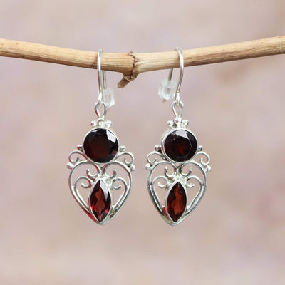 Earrings Energizing Garnet Earrings JE518