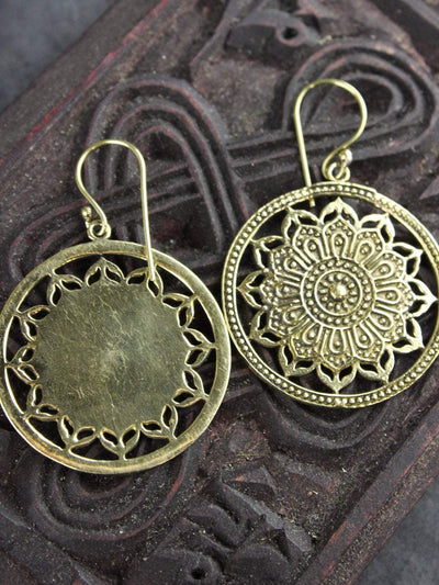 Earrings Floral Mandala Statement Earrings JE476