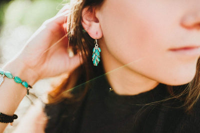 Earrings Flowing Turquoise Earrings JE481