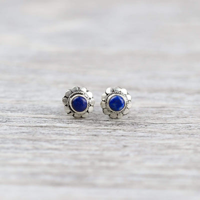 Earrings Healing Lapis Stud Earrings JE542