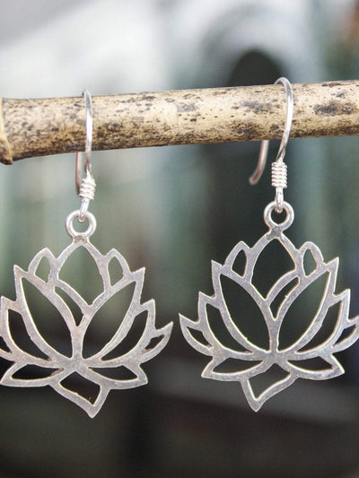Tiger Tiger Earrings Lotus Flower Compassion Earrings