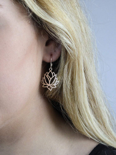 Earrings Lotus Flower Compassion Earrings JE495