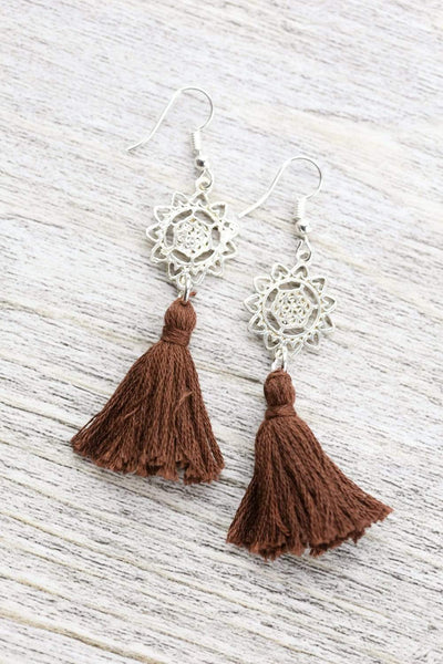 Earrings Mandala Tassel Earrings JE531
